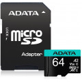 ADATA Premier Pro microSDXC UHS-I U3 Class 10(V30S) 64GB + Adaptér
