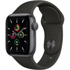 Apple Watch SE GPS, 40mm, puzdro z vesmírno šedého hliníka s čiernym športovým remienkom