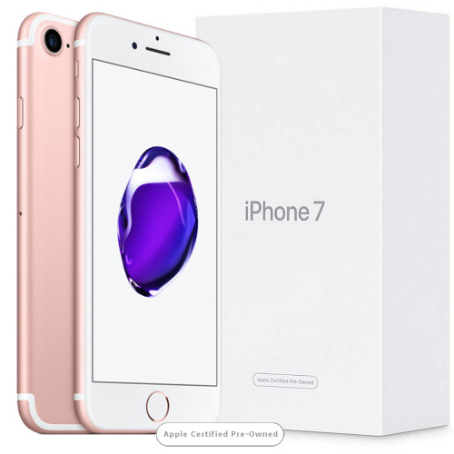 Apple iPhone 7 128GB Rose Gold (Apple Certified Pre-Owned)