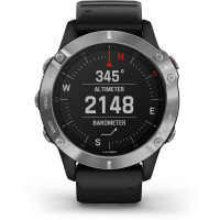 Garmin fenix6 Glass Silver/Black Band