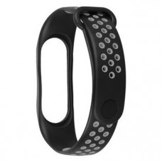 Tactical 280 Double Silikonový Řemínek pro Xiaomi Mi Band 3/4 Black/Grey (EU Blister)