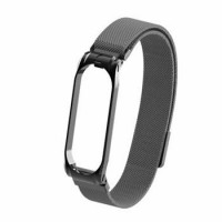 Tactical 379 Loop Magnetický Kovový Řemínek pro Xiaomi Mi Band 3/4 Black(EU Blister)