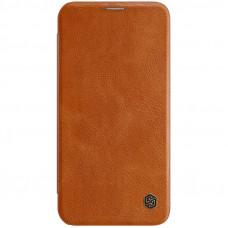 Nillkin Qin Book Pouzdro pro iPhone 12 Max / 12 Pro Brown