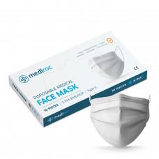 Mediroc STL3PLY rúško jednorázové 3 vrstvové 10 ks biele - MEDICAL