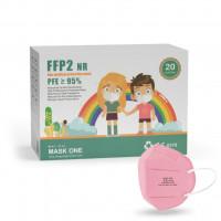 Mask One DY-06 detský respirátor FFP2 NR ružový 20ks/bal