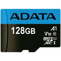 ADATA Premier microSDXC UHS-I Class 10 card 128GB + Adaptér