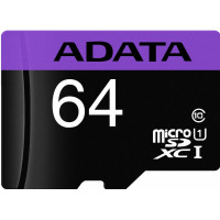 ADATA Premier microSDXC UHS-I Class 10 card 64GB + Adaptér