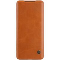 Nillkin Qin Book Pouzdro pro Samsung Galaxy S20 Ultra 5G Brown