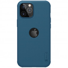 Nillkin Super Frosted PRO Magnetic Zadní Kryt pro iPhone 12 / iPhone 12 Pro Blue