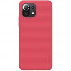 Nillkin Super Frosted Zadní Kryt pro Xiaomi Mi 11 Lite 4G / 5G Bright Red
