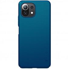 Nillkin Super Frosted Zadní Kryt pro Xiaomi Mi 11 Lite 4G / 5G Peacock Blue