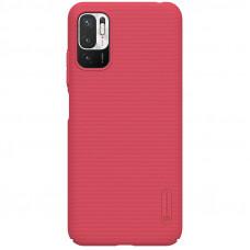 Nillkin Super Frosted Zadní Kryt pro Xiaomi Redmi Note 10 5G / Poco M3 Pro 5G Bright Red
