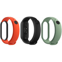 Xiaomi Original Mi Band 5 / 6 Strap Set Black / Orange / Teal