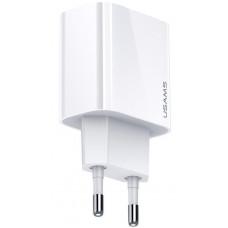 USAMS CC118 T34 USB 20W Fast Nabíječka White (EU Blister)