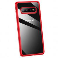 USAMS Mant Zadní Kryt pro Samsung Galaxy S10+ Red