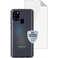 Matrix SE púzdro pre Samsung Galaxy A21s Transparent + ochranná fólia