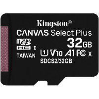 Kingston Canvas Select Plus microSDHC UHS-I Class 10 card 32GB + Adaptér
