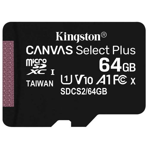 Kingston Canvas Select Plus microSDXC UHS-I Class 10 card 64GB + Adaptér