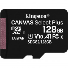 Kingston Canvas Select Plus microSDXC UHS-I Class 10 card 128GB + Adaptér