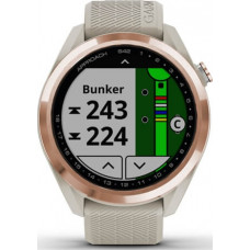 Garmin Approach S42 Rose Gold with Light Sand Band