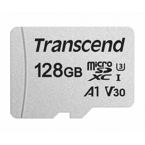 Transcend microSDHC 300S UHS-I Class 3 U3 V30 A1 card 128GB + Adaptér