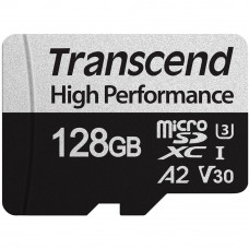 Transcend microSDXC 330S UHS-I Class 3 U3 V30 A2 card 128GB + Adaptér