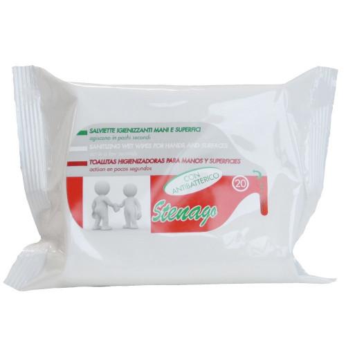 Antibakteriálne vlhčené obrúsky Stenago, 20ks