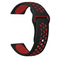Tactical 701 Double Silikonový Řemínek 20mm Black/Red