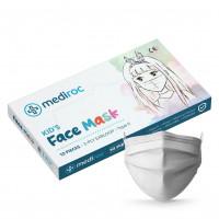Mediroc STL3PLYKIDS detské rúško jednorázové 3 vrstvové 10 ks biele - MEDICAL