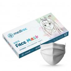 Mediroc STL3PLYKIDS detské rúško jednorázové 3 vrstvové 100 ks biele - MEDICAL