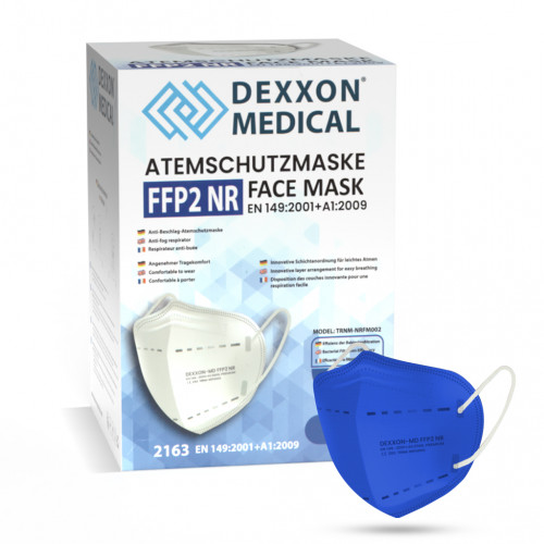 DEXXON MEDICAL Respirátor FFP2 NR modrý 10ks/bal