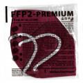 DEXXON MEDICAL Respirátor FFP2 NR vínový 1ks/bal