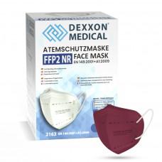 DEXXON MEDICAL Respirátor FFP2 NR vínový 50ks/bal