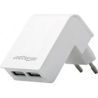 ENERGENIE EG-U2C2A-02-W Energenie univerzálna USB nabíjačka 2.1A, biela