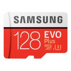 Samsung EVO Plus microSDXC UHS-I Class 10 U3 card 128GB + Adaptér