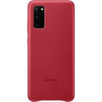 Samsung Kožený Kryt pro Galaxy S20 Red (EU Blister)