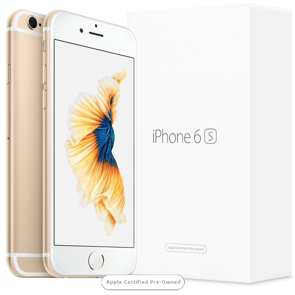Apple iPhone 6S 128GB Gold (Apple Certified Pre-Owned) UK distribúcia