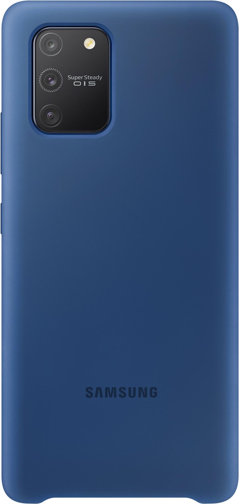 EF-PG770TL Samsung Silikónové púzdro pre Galaxy S10 Lite Modré